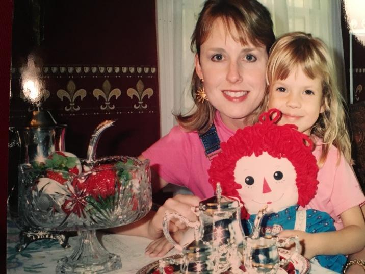 Mom & I at my Tea Party